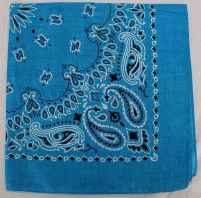 New Hot Sales 100% Cotton Printed Bandanas Blue Accessories