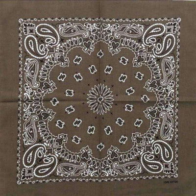 New Hot Sales 100% Cotton Printed Bandanas Coffee Accessories
