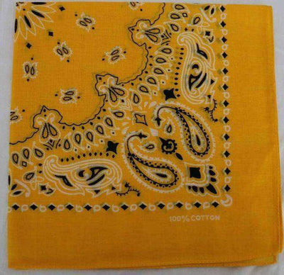 New Hot Sales 100% Cotton Printed Bandanas Gold Accessories