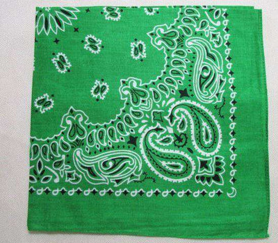 New Hot Sales 100% Cotton Printed Bandanas Green Accessories
