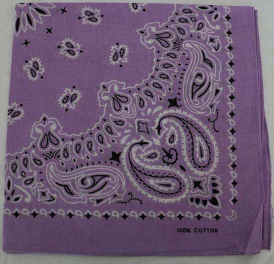 New Hot Sales 100% Cotton Printed Bandanas Lavender Accessories