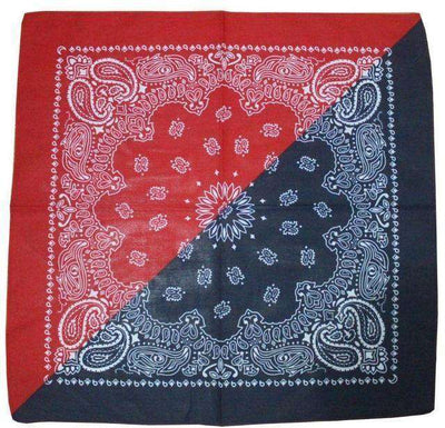 New Hot Sales 100% Cotton Printed Bandanas Navy Red Accessories