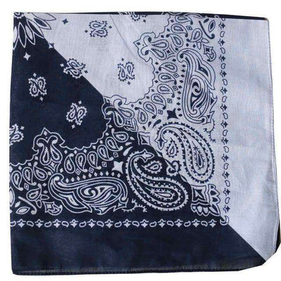 New Hot Sales 100% Cotton Printed Bandanas Navy White Half Accessories