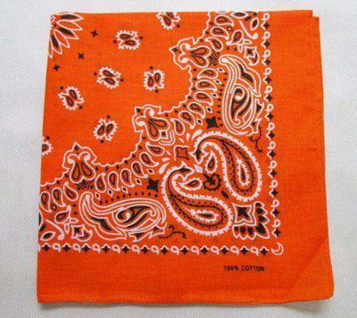 New Hot Sales 100% Cotton Printed Bandanas Orange Accessories