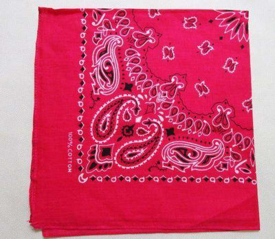 New Hot Sales 100% Cotton Printed Bandanas Hot Pink Accessories