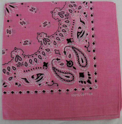 New Hot Sales 100% Cotton Printed Bandanas Pink Accessories