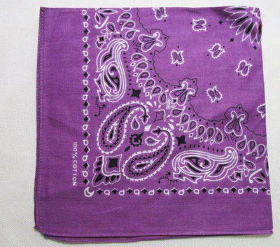 New Hot Sales 100% Cotton Printed Bandanas Purple Accessories