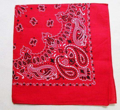 New Hot Sales 100% Cotton Printed Bandanas Red Accessories
