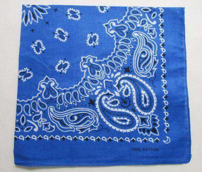 New Hot Sales 100% Cotton Printed Bandanas Royal Blue Accessories