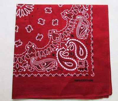 New Hot Sales 100% Cotton Printed Bandanas Wine Red Accessories