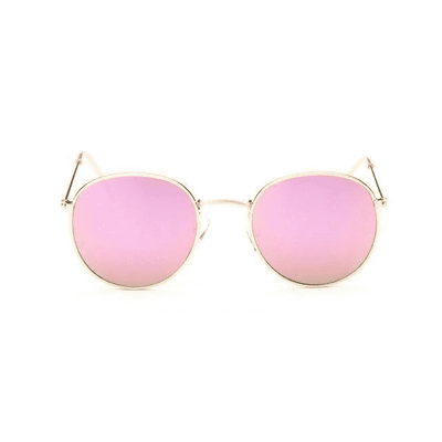 New Mirror Luxury Sunglasses Gold Frame Pink Eyewear