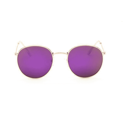 New Mirror Luxury Sunglasses Goldframe Purple Eyewear