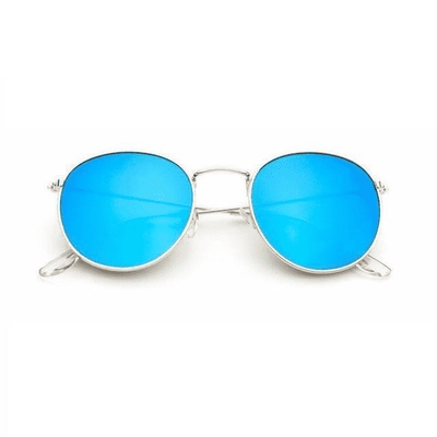 New Mirror Luxury Sunglasses Goldframeblue Eyewear