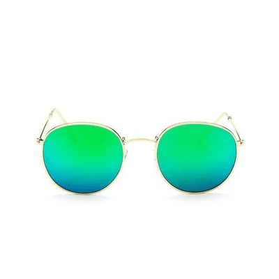 New Mirror Luxury Sunglasses Goldframegreen Eyewear