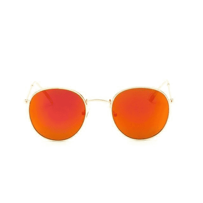 New Mirror Luxury Sunglasses Goldframered Eyewear