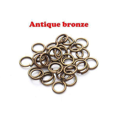 Open Jump Rings Link Loops For Diy Jewelry Bronze Jump Ring