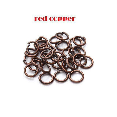 Open Jump Rings Link Loops For Diy Jewelry Red Copper Jump Ring