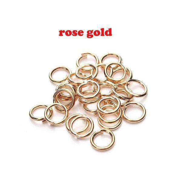 Open Jump Rings Link Loops For Diy Jewelry Gold Jump Ring