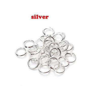 Open Jump Rings Link Loops For Diy Jewelry Silver Jump Ring