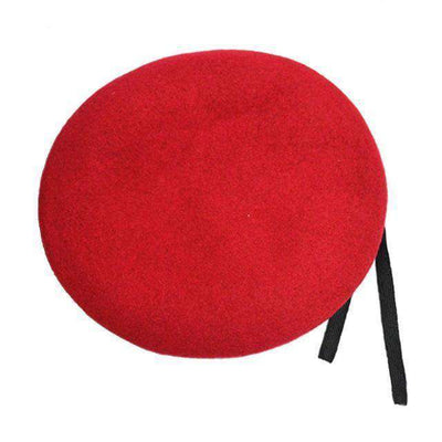 Outdoor Breathable Pure Wool Beret Hats Red Berets