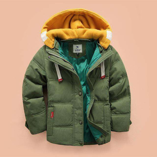 Outerwear Boys Casual Warm Hooded Jacket