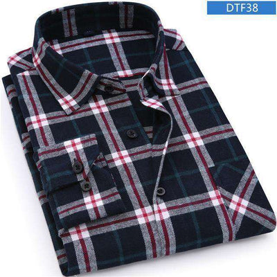 Plaid Shirt 100% Cotton Long Sleeve Shirts