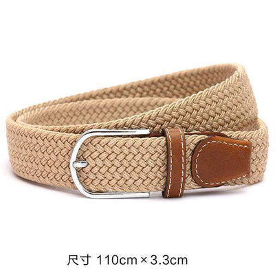 Plain Webbing Metal Buckle Belt Beige / 110Cm Belts