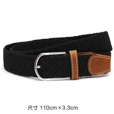 Plain Webbing Metal Buckle Belt Black / 110Cm Belts
