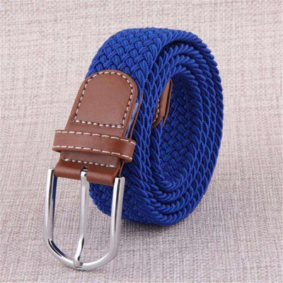 Plain Webbing Metal Buckle Belt Blue / 110Cm Belts