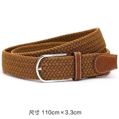 Plain Webbing Metal Buckle Belt Brown / 110Cm Belts