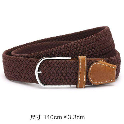 Plain Webbing Metal Buckle Belt Coffee / 110Cm Belts