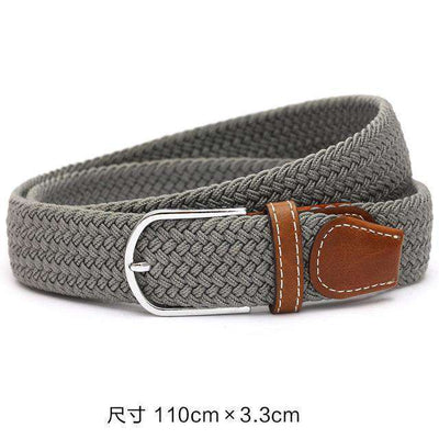 Plain Webbing Metal Buckle Belt Gray / 110Cm Belts