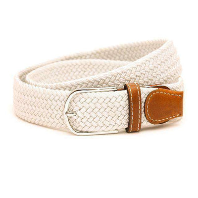 Plain Webbing Metal Buckle Belt Ivory / 110Cm Belts