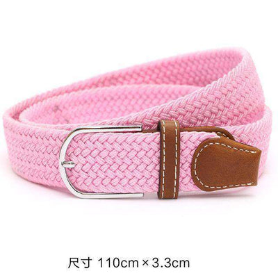 Plain Webbing Metal Buckle Belt Pink / 110Cm Belts