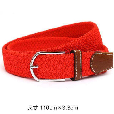 Plain Webbing Metal Buckle Belt Red / 110Cm Belts