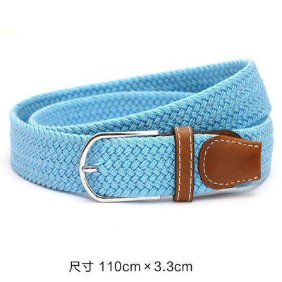Plain Webbing Metal Buckle Belt Sky Blue / 110Cm Belts