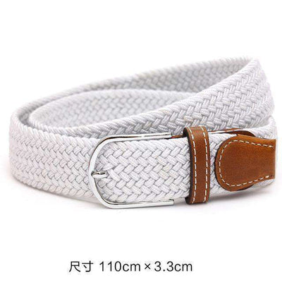 Plain Webbing Metal Buckle Belt White / 110Cm Belts