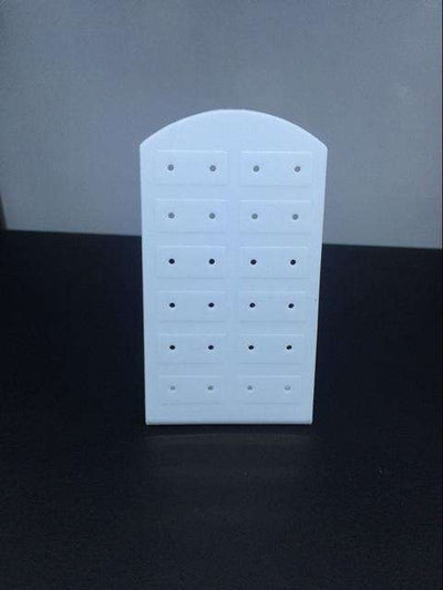 Plastic Earrings Display Stand Or Convenient Jewelry 24 Holes White B