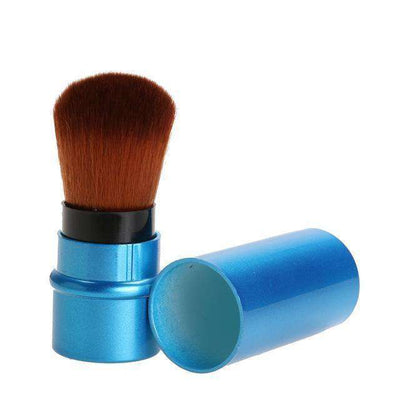Portable Retractable Makeup Brush Professional Cosmetic 1Pc Deep Blue