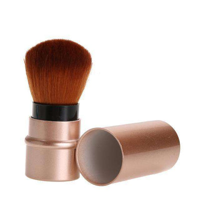 Portable Retractable Makeup Brush Professional Cosmetic 1Pc Gold