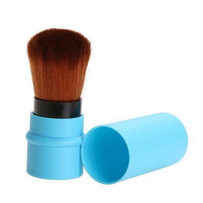 Portable Retractable Makeup Brush Professional Cosmetic 1Pc Light Blue