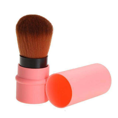 Portable Retractable Makeup Brush Professional Cosmetic 1Pc Pink