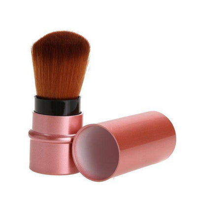 Portable Retractable Makeup Brush Professional Cosmetic 1Pc Rose Gold