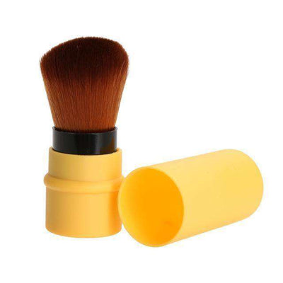 Portable Retractable Makeup Brush Professional Cosmetic 1Pc Yellow