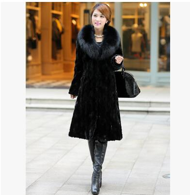 High quality Winter imitation water fur female 2019 new fashion Slim plus size coats imitation fox fur long coats Women ODFVEBX
