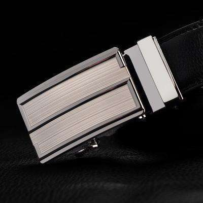 Real Genuine Leather Automatic Buckle Male Waistbands Belts Belt 15 / 110Cm Belts