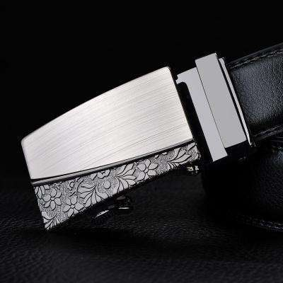 Real Genuine Leather Automatic Buckle Male Waistbands Belts Belt 19 / 110Cm Belts