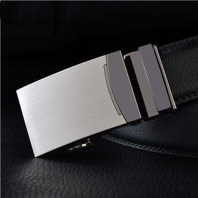 Real Genuine Leather Automatic Buckle Male Waistbands Belts Belt 2 / 110Cm Belts