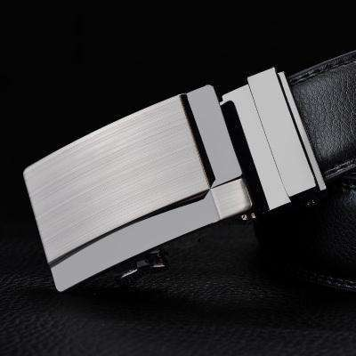 Real Genuine Leather Automatic Buckle Male Waistbands Belts Belt 20 / 110Cm Belts