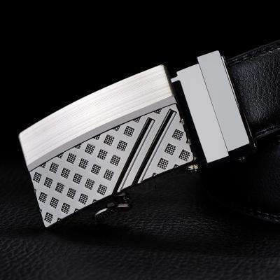 Real Genuine Leather Automatic Buckle Male Waistbands Belts Belts